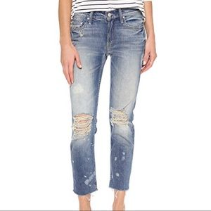 Mother The Dropout Fray Jeans Reckless Wash 26